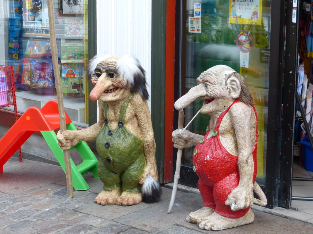 Charming statues
