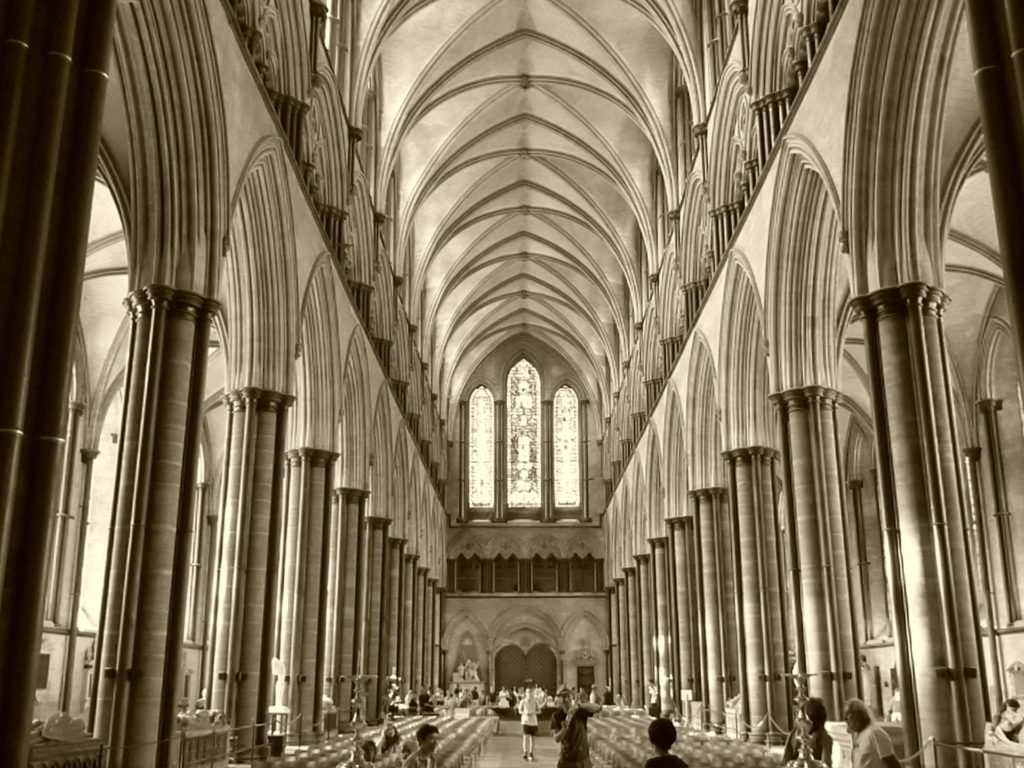 Interior of the Salisbury Cathedral