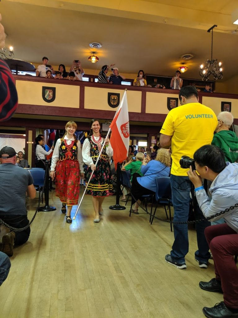 Poland Flag Carrying