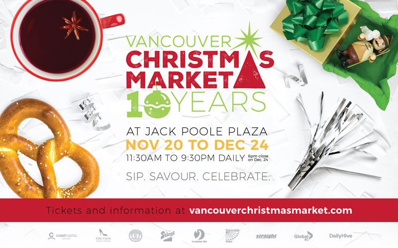 Vancouver Christmas Market downtown