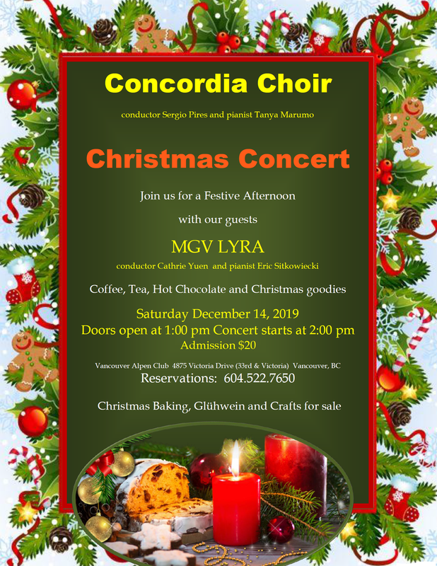 Christmas Concert by the Concordia Choir.